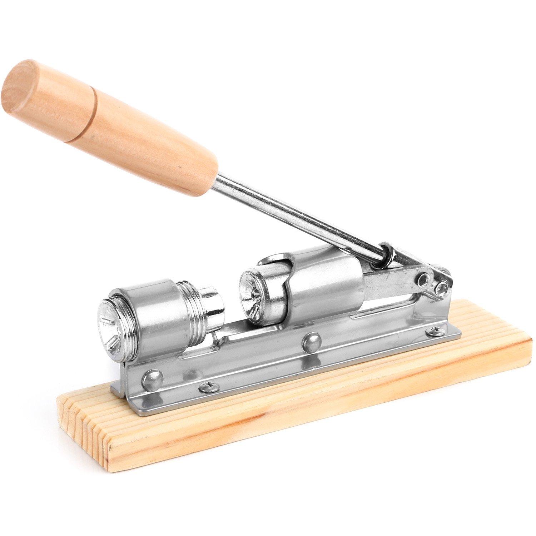 Anwenk Heavy Duty Nutcracker Pecan Nut Cracker Walnut Plier Opener Tool Desktop Wood Base & Handle