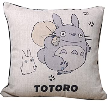 Amazon.com: Cartoon Anime Totoro alta calidad algodón y lino ...