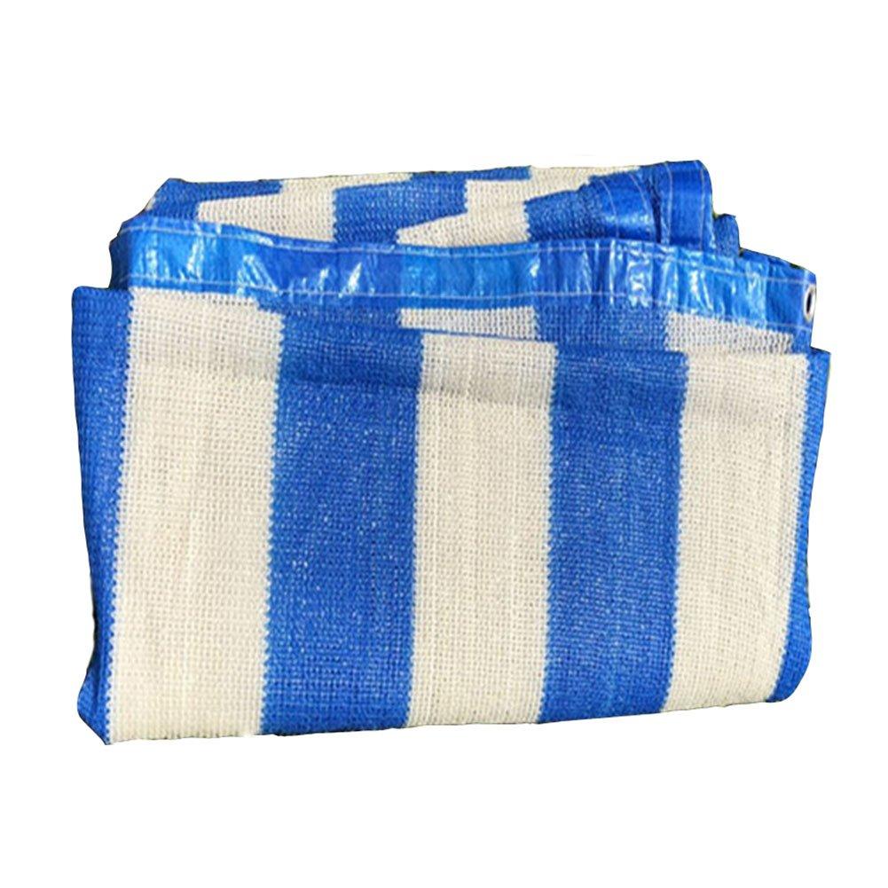 LIANGLIANG Rete Parasole Serre Antivento Outdoor Shading Tenda Multiuso Traspirante con Protezione Floreale Foro Metallico in Polietilene, Misura 9 (colore   blu bianca, Dimensioni   3x5m)