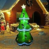 GOOSH 5 Ft Christmas Indoor Outdoor Inflatable Tree Decorations