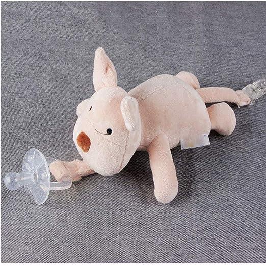 Cerdo del bebé Chupete Chupete titular desmontable suave ...