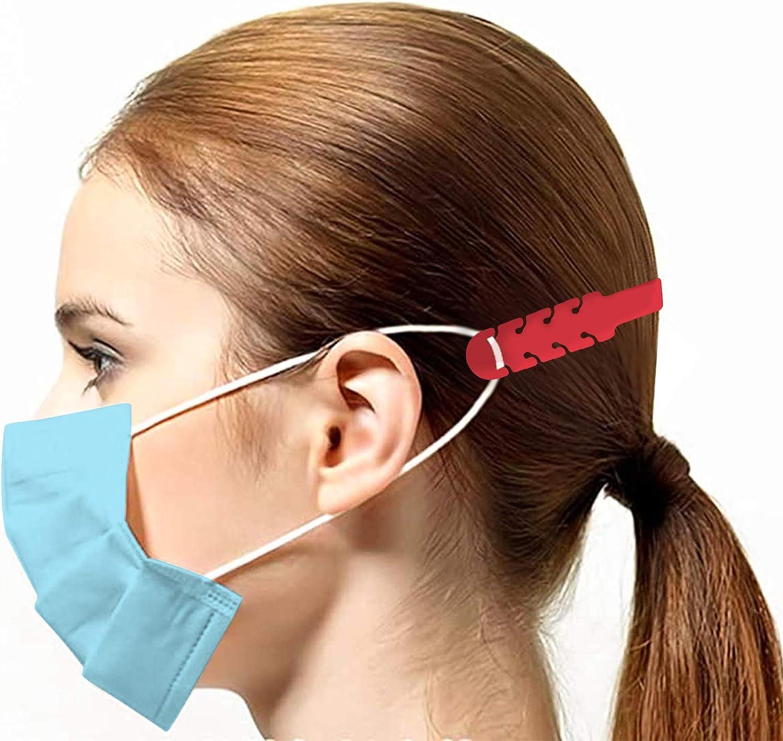 TBOC Cinghia di Prolunga per Maschera - Bianca Pack 5 Unit/à Estensione Antiscivole Ganci Regolabili per Prevenzione Mal Orecchie Testa