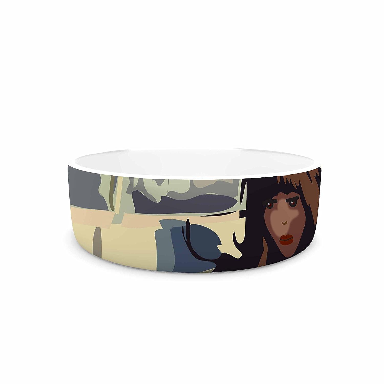 KESS InHouse Maria Bazarova Loneliness  Beige People Pet Bowl, 7