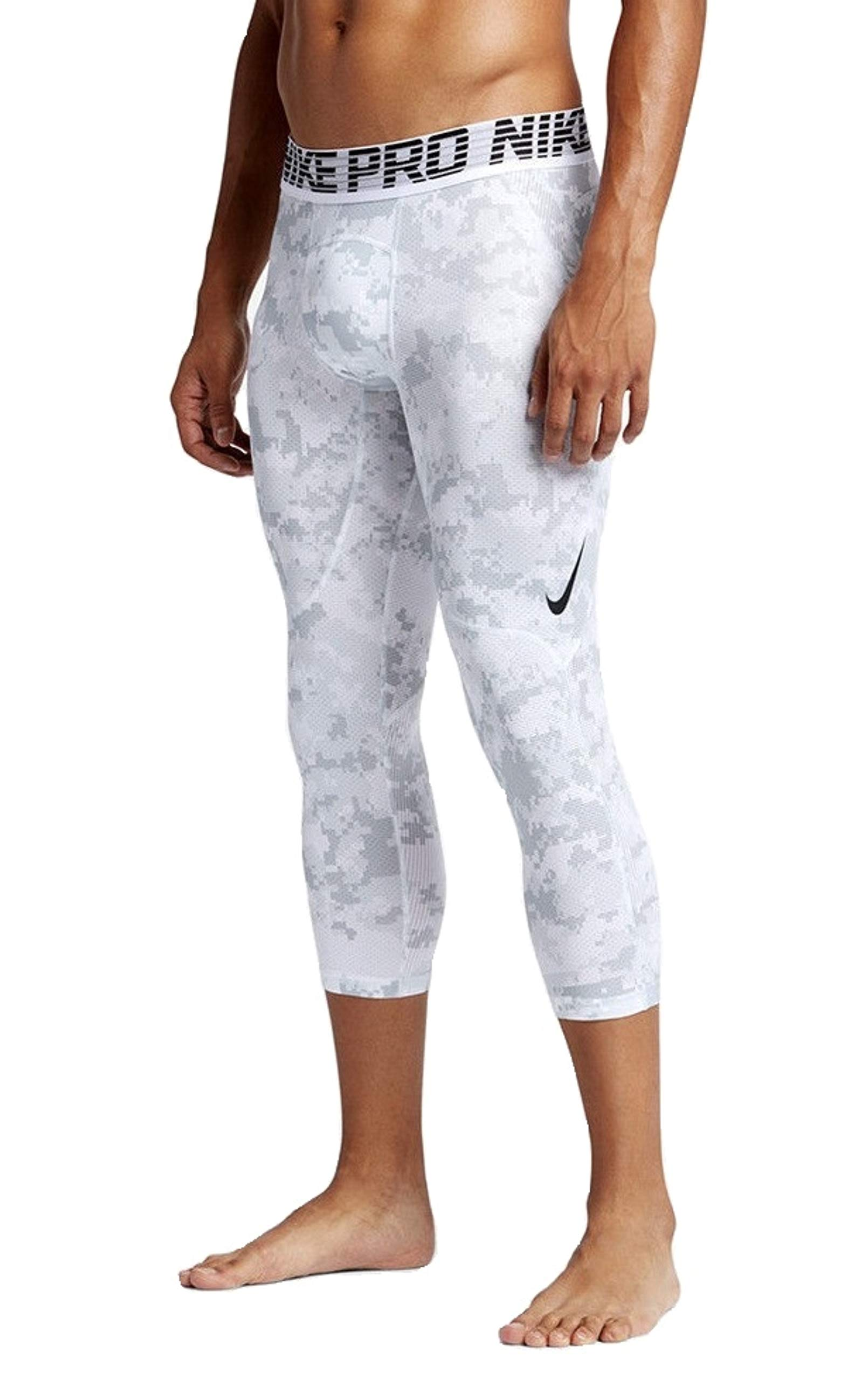 Nike Men's Pro 3/4 Tights (Came White/Grey/Black, XX-Large) by Nike