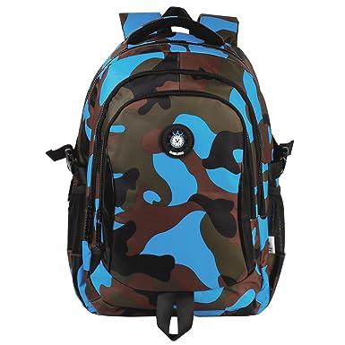 Amazon.com | Manleno Nylon Kids Backpack Outdoor Daypack School ...