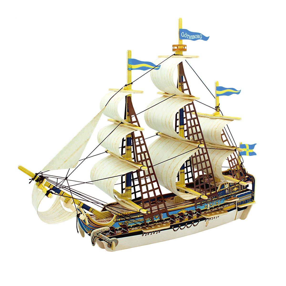 Robotime 3D立体パズル DIY DIY 木製 船 53pcs クラフト 手作りキット クラフト ミニチュア ミニチュア B06WD3WLVM, リビングファニチャー:78885359 --- m2cweb.com