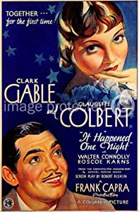 American Gift Services It Happened One Night 1934 Vintage Movie Poster Art Version 2 18x24