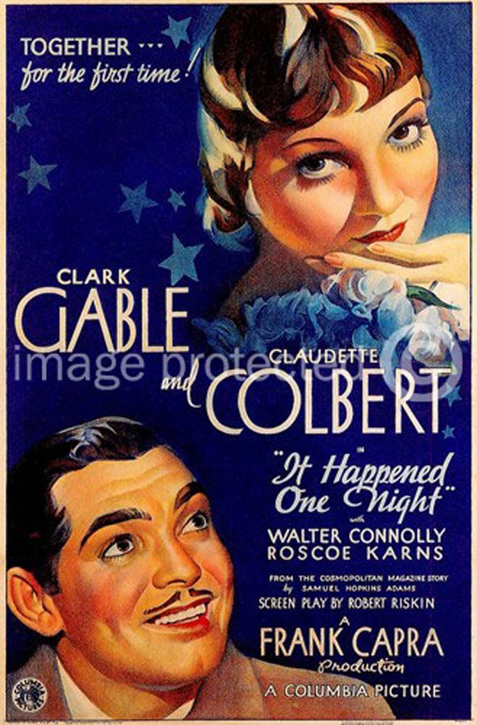 It Happened One Night 1934 Vintage Movie Poster Art Version 2 24x36