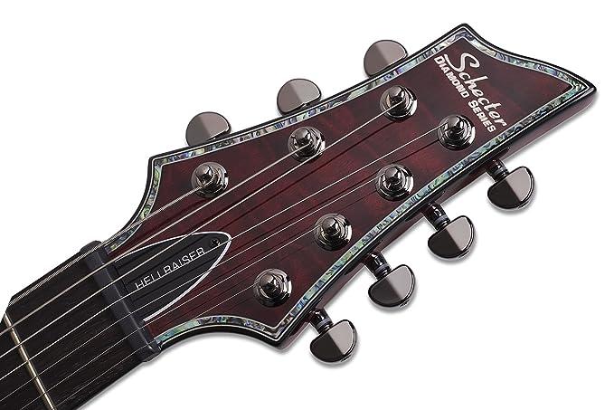 Schecter Hellraiser C-7 (7 cuerdas Guitarra eléctrica (Negro Brillante): Amazon.es: Instrumentos musicales