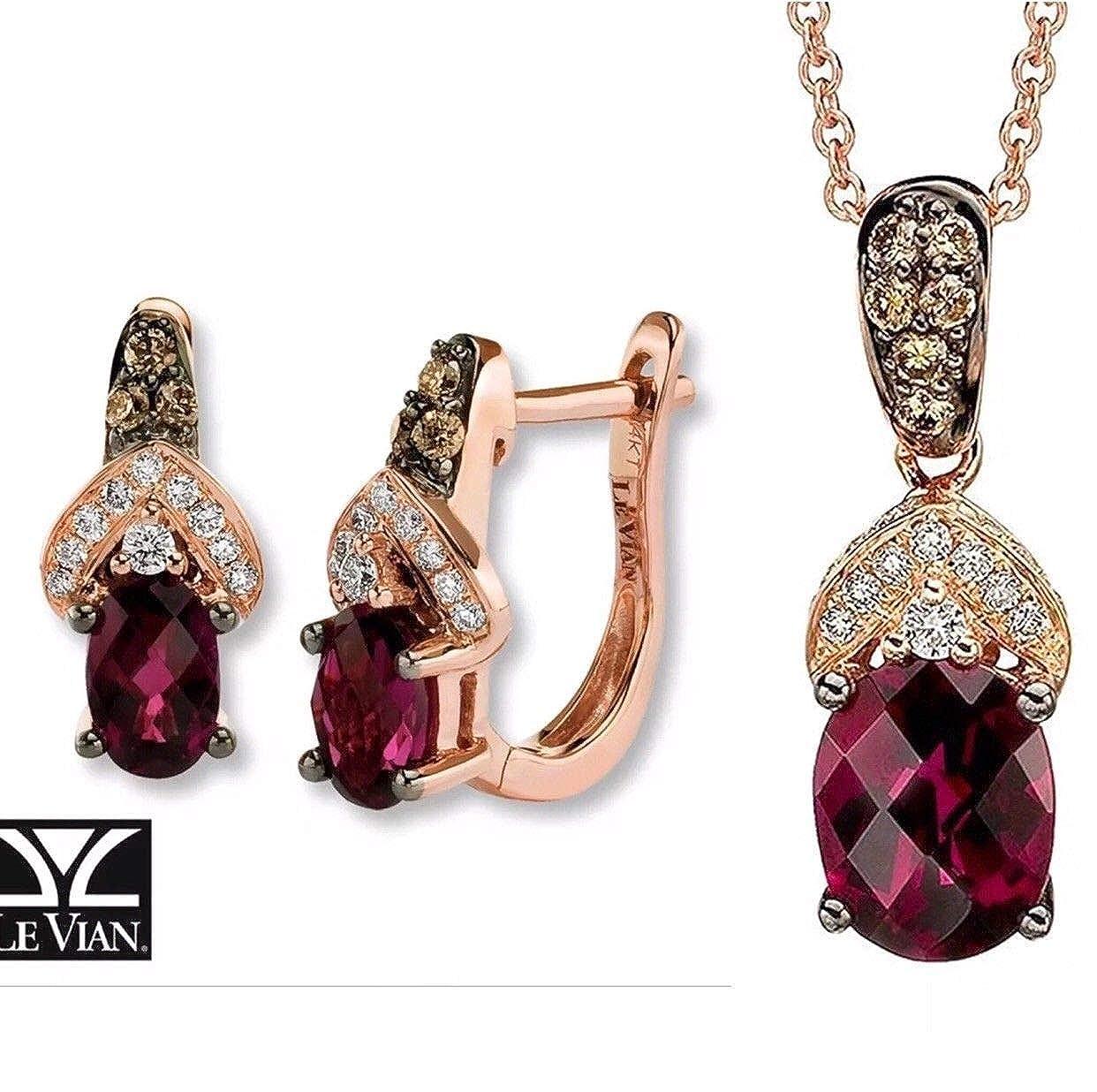 9803963d99ffd Amazon.com: LE VIAN Rhodolite Garnet Chocolate Diamonds Earrings ...