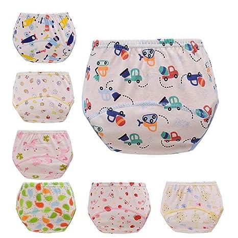 fyfood 7 Set Baby Niño/Niña Aprendizaje Pañales Trainer Pantalones Ropa Interior Set A Talla