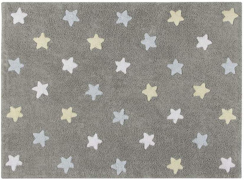 Alfombra lavable Lorena Canals con diseño de estrellas tricolor ...