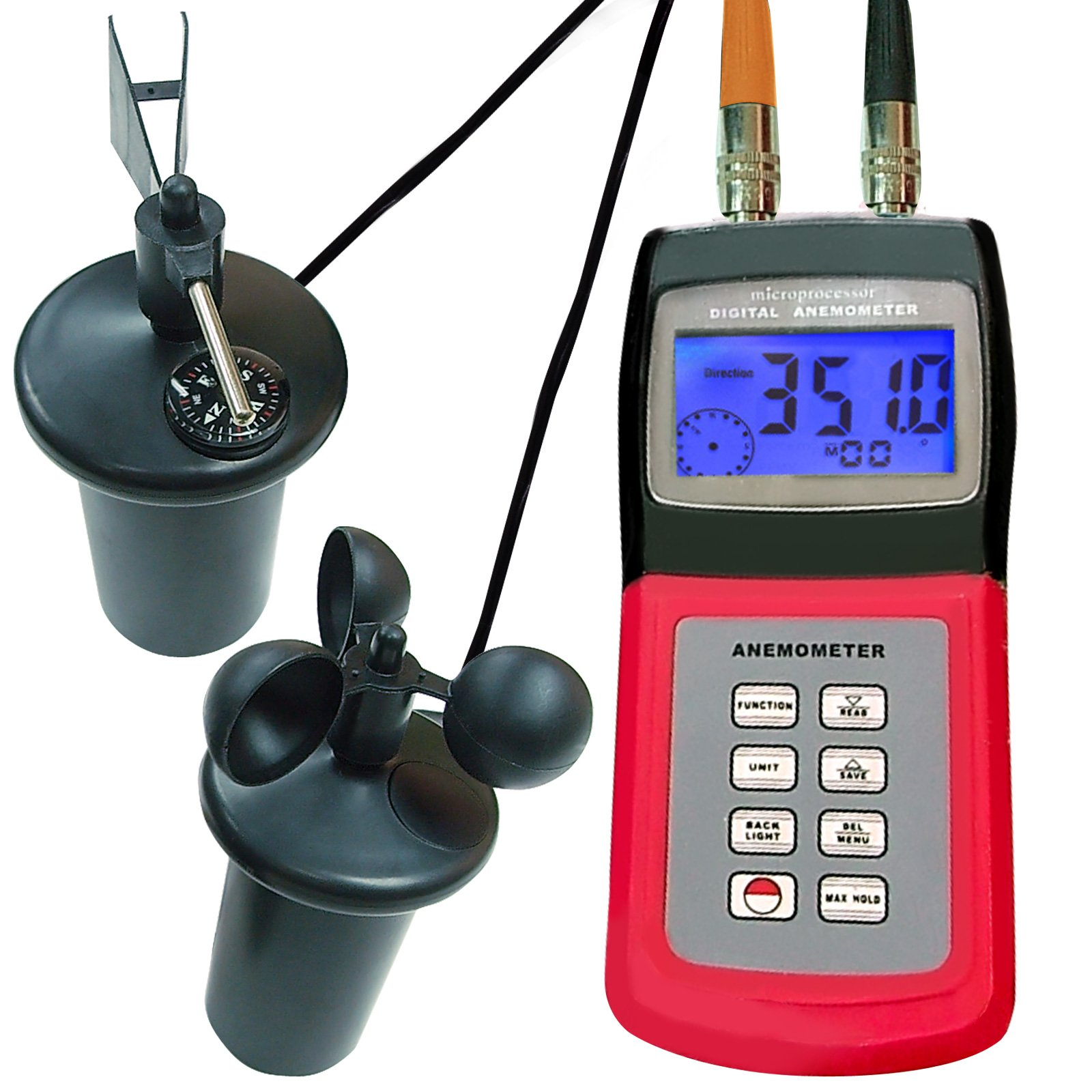 Landtek Instruments Multifunction Thermo Wind Speed Anemometer with Cup Sensor