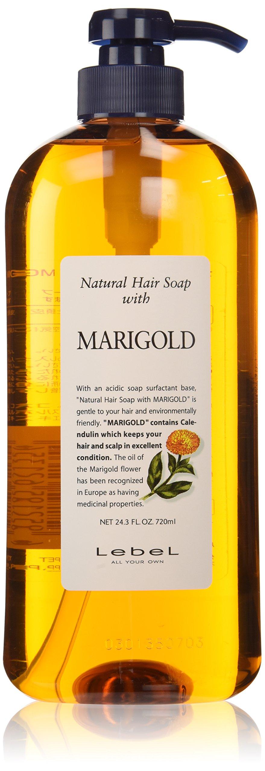 Lebel Cosmetics | Shampoo | Natural Hair Soap with Marigold Shampoo 720ml (Japan Import)