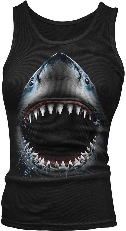 Amdesco Junior's Great White Shark Bite, Shark Face Jaw Tank Top
