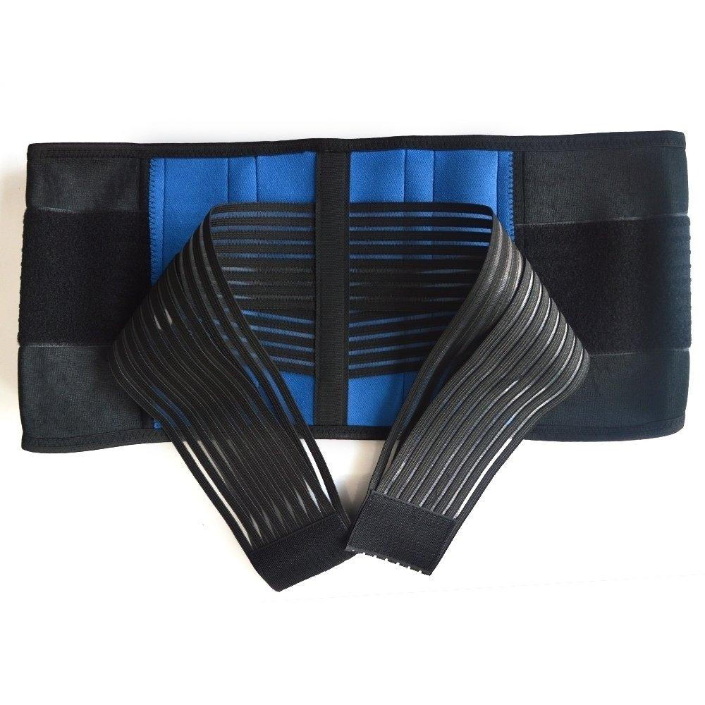 S-XXXXL XXXXL 50-54//126-136cm Double-Pull Neoprene Lumbar Support Belt