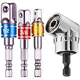 LATTCURE Stecknussadapter Adapter Sechskant Socket Steckschl/üssel auf 1//4 Silber 3//8 Vierkant Nuss Adapter 1//2