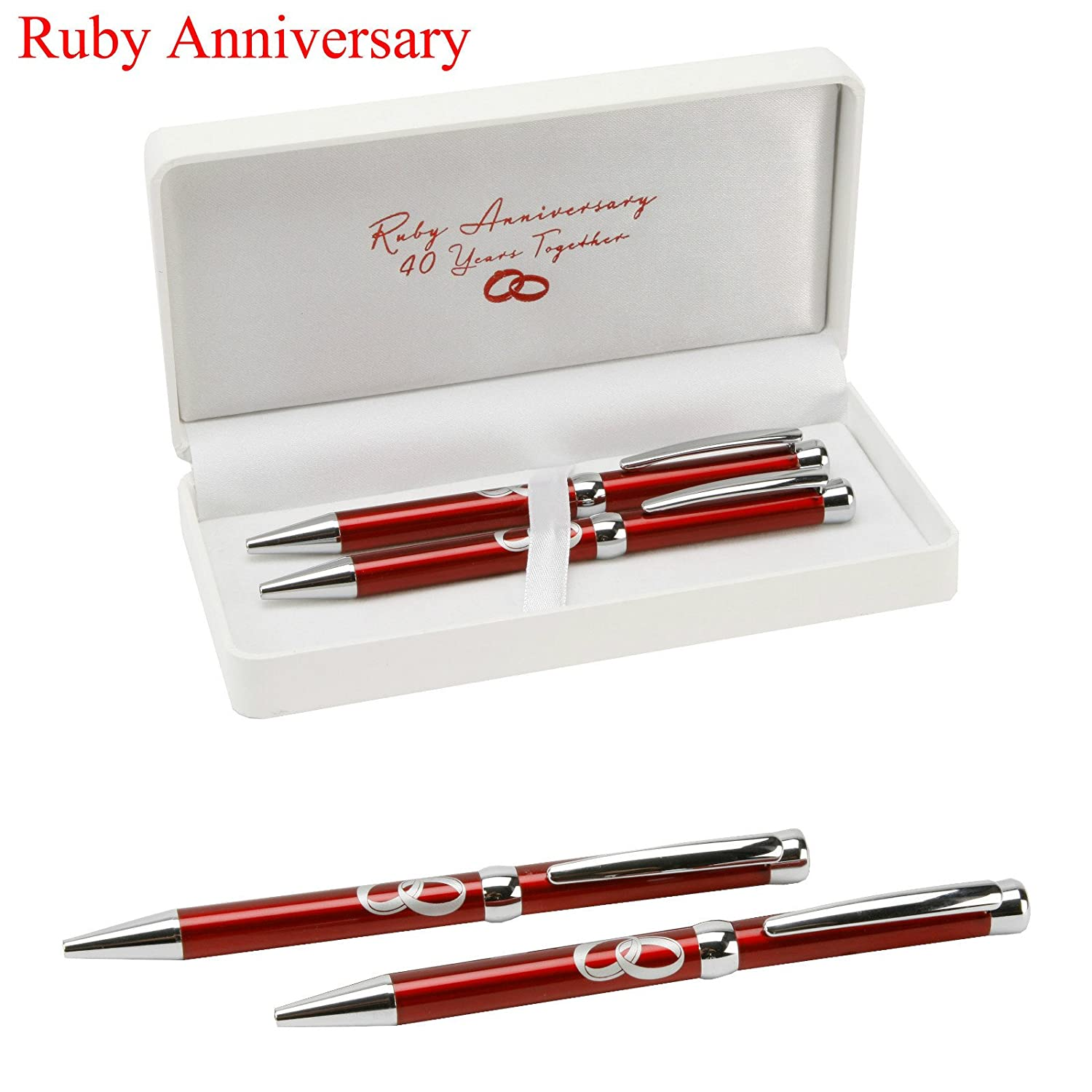 Amazon Amore Gifts 40th Ruby Anniversary Pens Set Office
