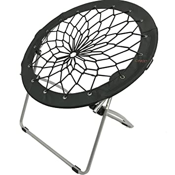 Ordinaire CAMPZIO Bungee Chair Round Bungee Chair Folding Comfortable Lightweight  Portable Indoor Outdoor (BLACK)