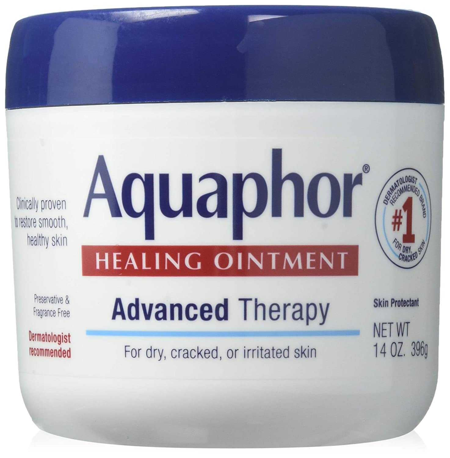 PACK OF 3 - Aquaphor Advanced Therapy Healing Ointment Skin Protectant 14 oz. Jar