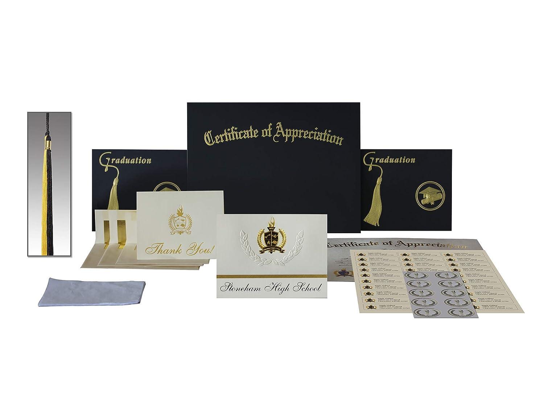 Signature Ankündigungen Ankündigungen Ankündigungen Graduation Ankündigungen, Presidential Stil, Elite Paket 25 Stück mit Gold & Schwarz Metallic Folie Dichtung Starr (Newtown, CT) 6.25  x 11.44  cremefarben B078J1KHX2   Ab dem neuesten Modell  d255f2