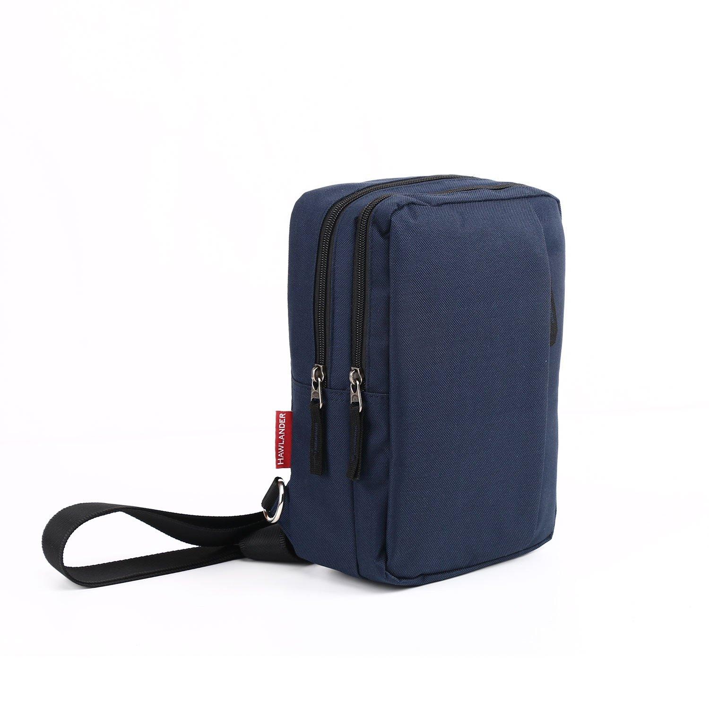Classic Lightweight Casual Messenger Bag Canvas Satchel Vintage Shoulder Crossbody Bag Briefcase for Men and Women (Navy Blue)