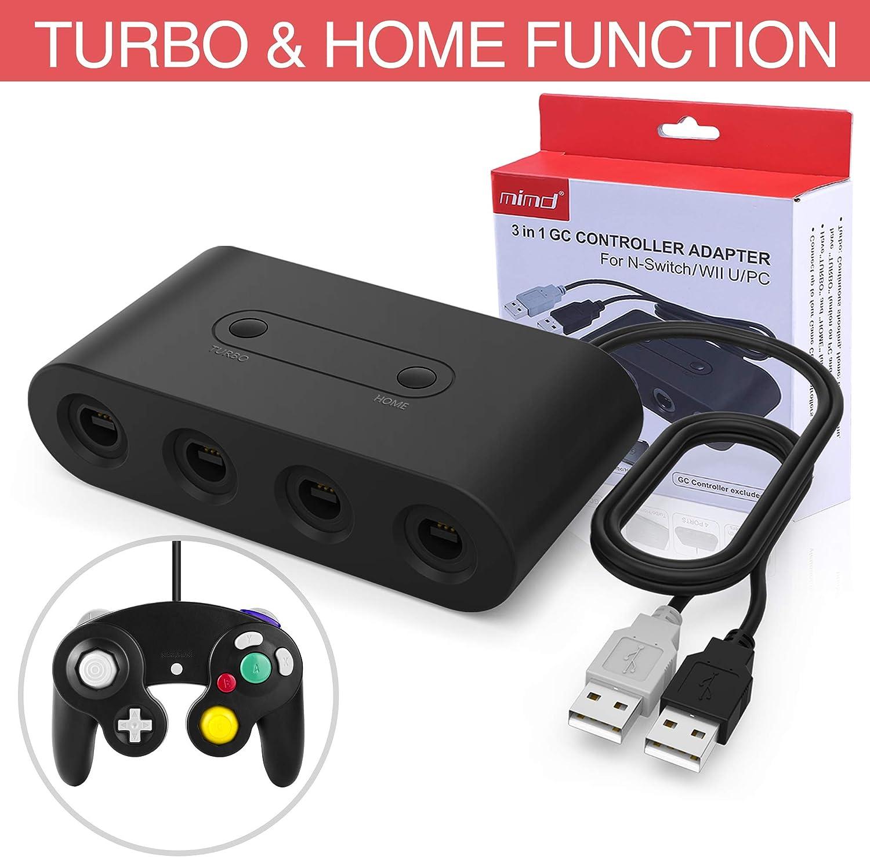 HEYSTOP Gamecube Controller Adapter para Nintendo Switch/Wii U/PC ...