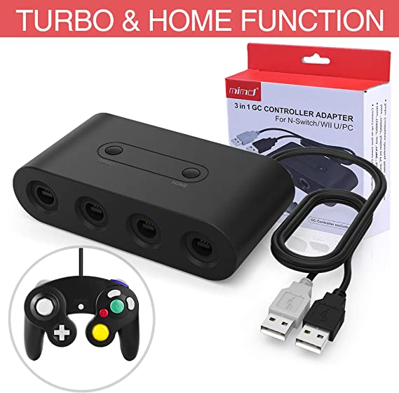 HEYSTOP Gamecube Controller Adapter para Nintendo Switch/Wii U/PC, (Versión Mejorada) Adaptador de mandos Gamecube para Wii U y PC con 4 Puertos: Amazon.es: Electrónica