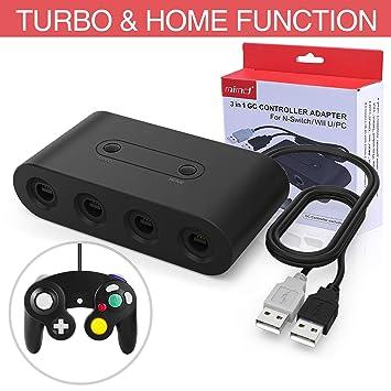 HEYSTOP Gamecube Controller Adapter para Nintendo Switch/Wii U/PC, (Versión Mejorada