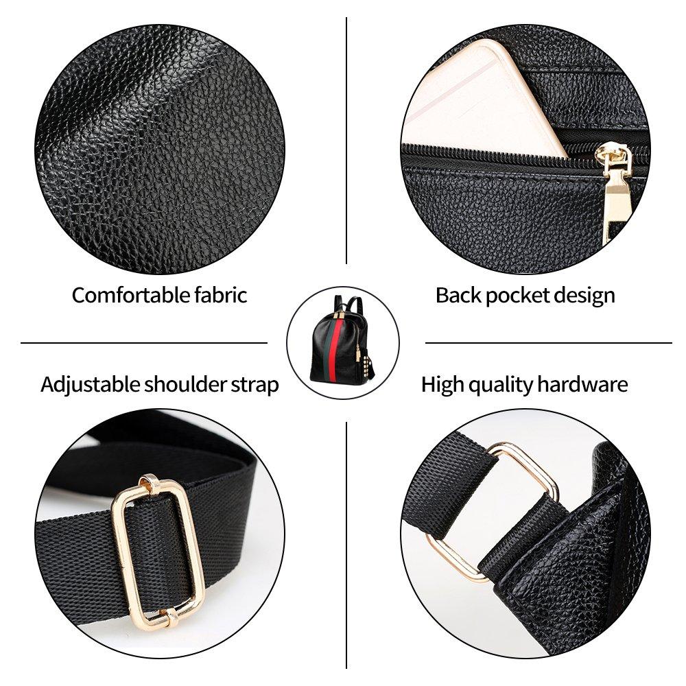 Mynos Backpack Bag Women Mini Rucksack Travel Bookbag For Girls Backpack Leather Bag Ladies Purse And Handbags by Mynos (Image #4)