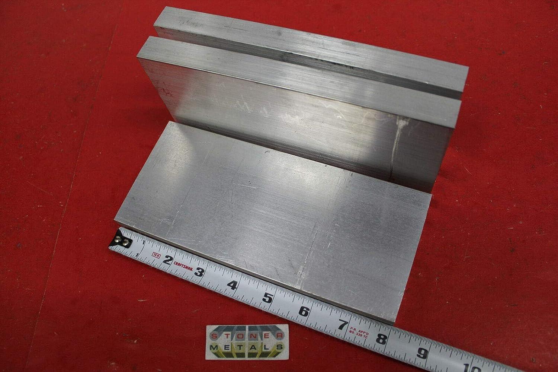 3 Pieces 3//4 X 3-1//2 ALUMINUM 6061 FLAT BAR 8 long T6511 Plate Mill Stock