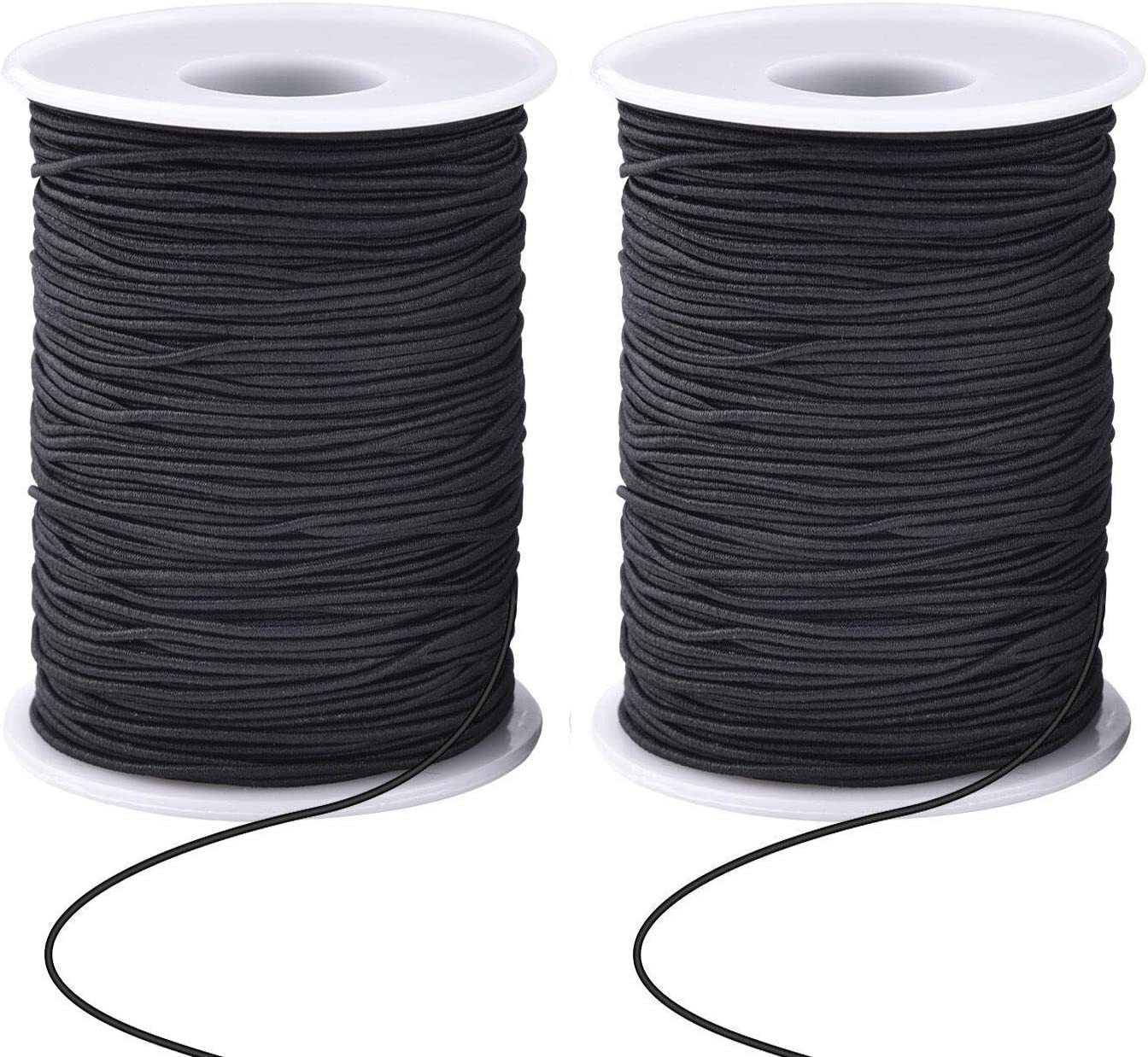Zealor 2 Roll 0.8 mm Elastic String Cord Elastic Thread Beading String Cord for Jewelry Making Bracelets Beading 100 Meters//Roll Black