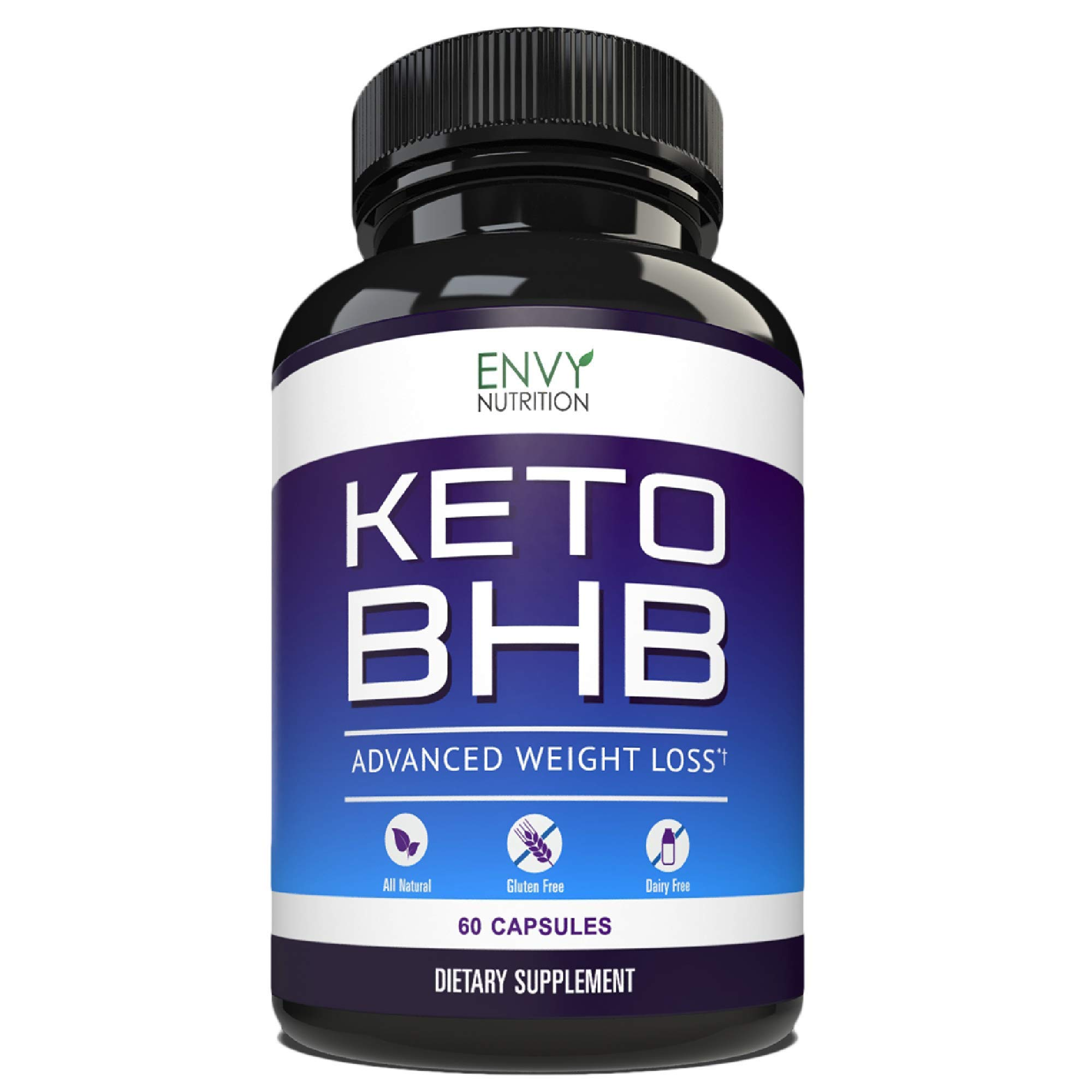 Best Keto Diet Pills - Advanced Weight Loss - BHB Salts Support Fat Burning, Ketosis, Improved Energy and Enhanced Focus by Envy Nutrition (Image #1)