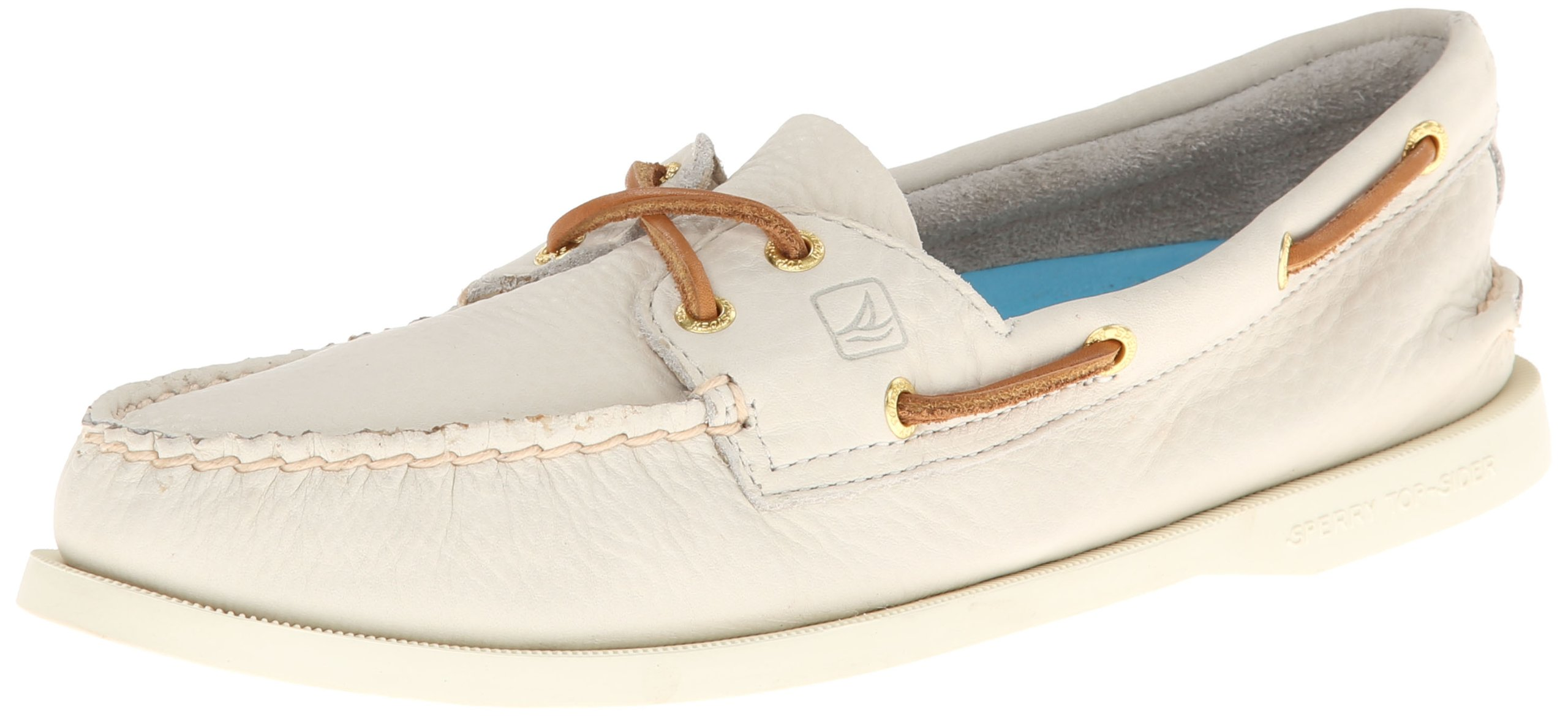 Sperry Top-Sider Women's Authentic Original Boat Shoe, Ivory, 6 M US