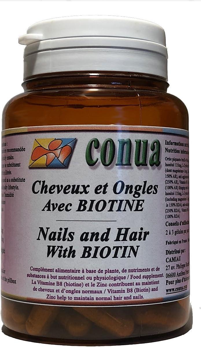 Cabello fuerte uñas y piel con BIOTIN + ZINC, ortiga, vitamina B5 ...