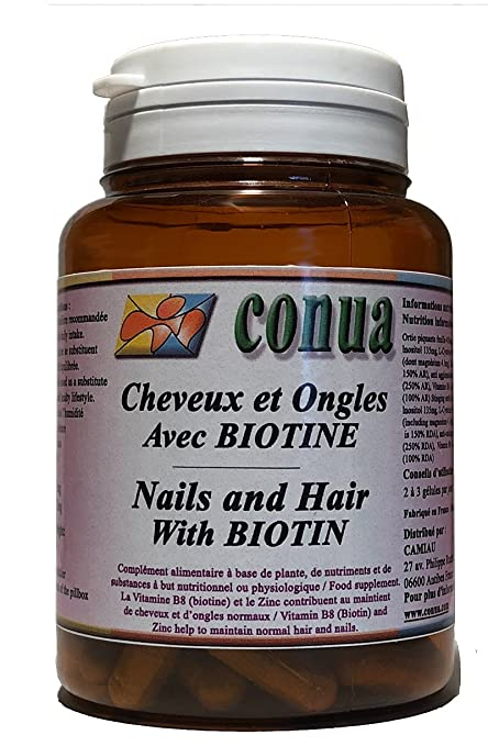 Cabello fuerte uñas y piel con BIOTIN + ZINC, ortiga, vitamina B5 B6 B7