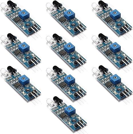 5x infrarrojos obstáculo evitar detección obstáculo módulo sensor ir Arduino Pi