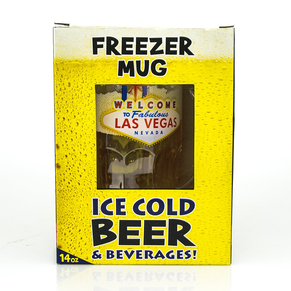 mug freezer 2pack welcome to las vegas ice cold beer beverages