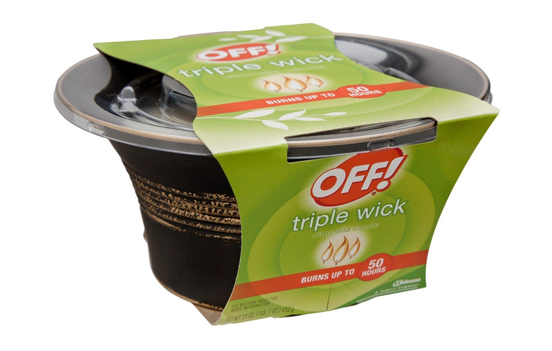 Off! Triple Wick Citronella Candle