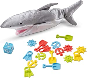Melissa & Doug Shark Bait Game With Zippered Plush Shark (Great Gift for Girls and Boys for Family Board Game Night - Best for 3, 4, 5, 6, 7 Year Olds and Up)
