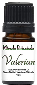 Miracle Botanicals Wildcrafted Valerian Essential Oil - 100% Pure Valeriana Officinalis - 5ml or 10ml sizes - Therapeutic Grade - 5ml