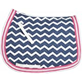 Equine Couture Abby Saddle Pad Navy/Pink