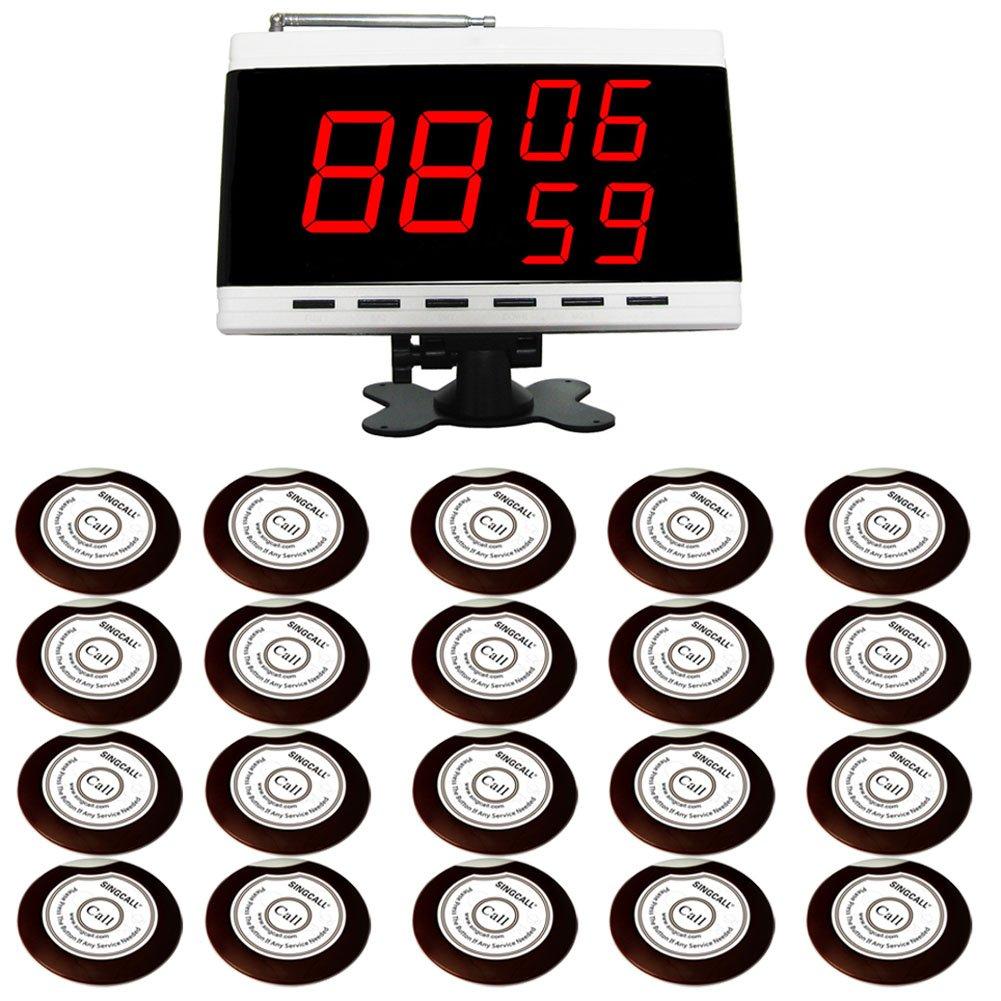 SINGCALL®.tragbarer Hostrechner wie Armbanduhr - Dieser Artikel fasst 1 Hostrechner(APE9300) - 20 Piepser um(APE700)