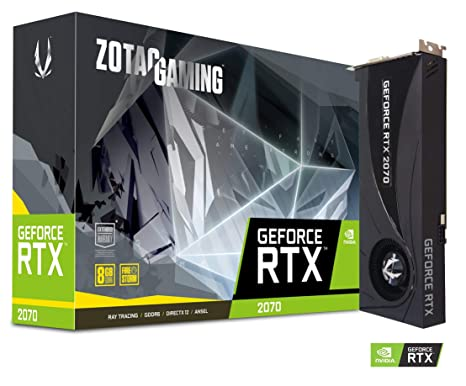 ZOTAC Gaming GeForce RTX 2070 Blower 8GB GDDR6 256-bit Dual Slot Gaming  Graphics Card - ZT-T20700A-10P