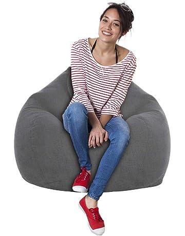Bleu, M chaise longue housse en velours pour pouf accessoire de maison pour meubles sac de frijol pour adultes et enfants chaise longue Housse pouf poire non rembourr/ée pour canap/é fauteuil