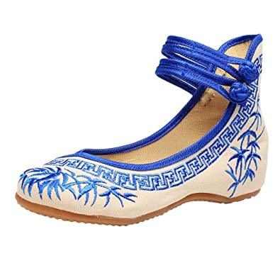 Zhhlaixing Vintage Chinese Style Women Embroidered Shoes Comfortable Non-Slip Shoes KvJXEarf