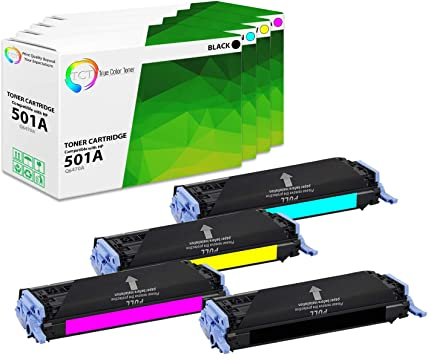 4pk Remanufactured Set Toner Cartridges for HP TONER Q6470A Q6471A 502A 3600