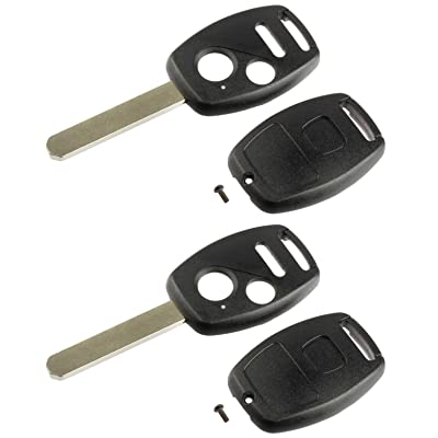 Key Fob Keyless Entry Remote Shell Case & Pad fits Honda 2007-2008 Fit / 2005-2010 Odyssey / 2005-2008 Pilot / 2006-2014 Ridgeline, Set of 2: Automotive [5Bkhe1004258]