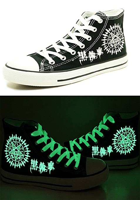 Black Butler Kuroshitsuji Anime Logo Cosplay Shoes Canvas Shoes Sneakers Luminous