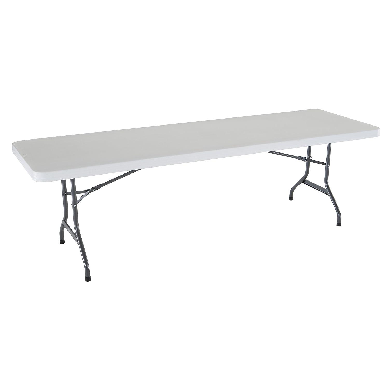 Amazon Lifetime Folding Utility Table 8 Feet White